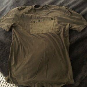Helmut Lang military green T-shirt